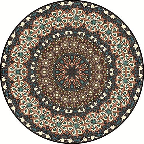 AMON LL Perzische tapijten en tapijten, moderne antislip traditionele tapijt ronde tapijt muismat zachte tapijt vloermat voor huisdecoratie