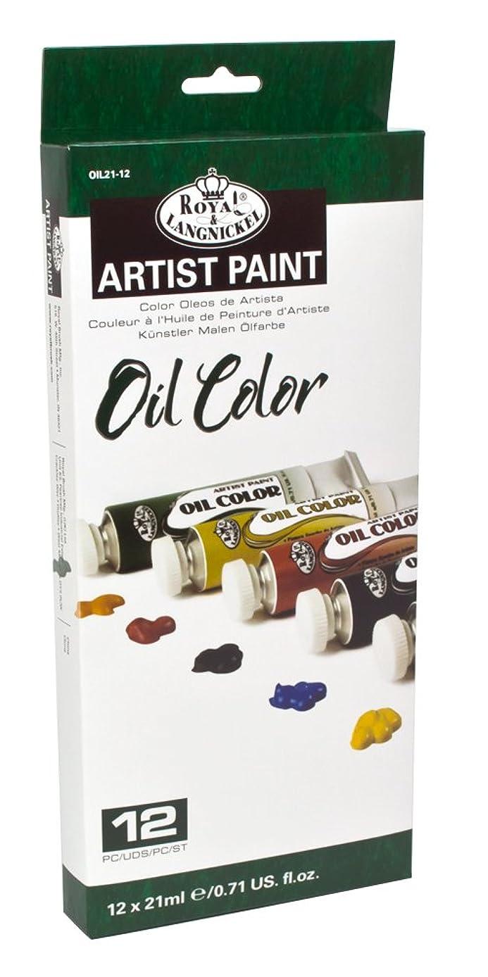 Royal & Langnickel Oil Color Artist Tube Paint, 21ml, 12-Pack