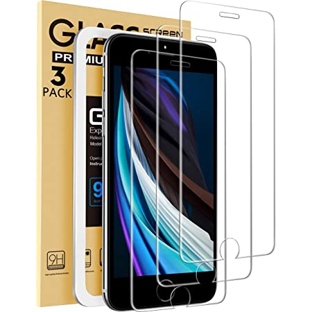 Mkeke Compatible with iPhone SE 2020 Screen Protector, for iPhone 8/7 and iPhone 6 / 6s Screen Protector Tempered Glass 4.7inch 3-Pack