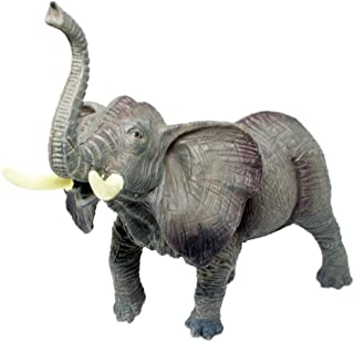 Tootpado 1TNG47 Mammoth African Elephant Animal Action Figure Toy (7 Inch, Grey)