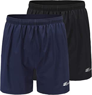 Men's 5 Inches Running Workout Shorts Quick Dry Lightweight Athletic Shorts with Liner Zipper Pockets