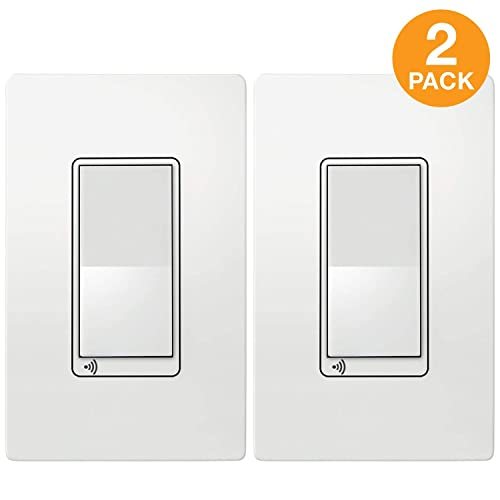 TOPGREENER Smart Light Switch, UL Listed, NEUTRAL Wire Required, Single Pole or 3