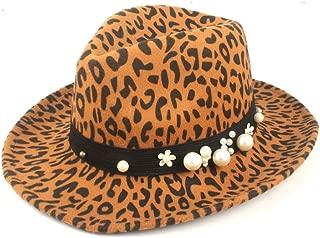 Fedora Cap Fashion Unisex Flatter Fedora Hat Wool Polyester Official Hat Panama Hat Autumn Winter Elegant Hat Felt hat (Color : Yellow, Size : 56-58cm)