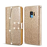 ZCDAYE Wallet Case for Samsung Galaxy A6 2018,Bling PU