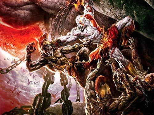 XYDH 500 Piezas Rompecabezas De Tablero De Madera,Videojuego God of War Obra de Arte de Juego de Rompecabezas para Adulto, Juego de Rompecabezas y Juego Familiar/52 * 38CM