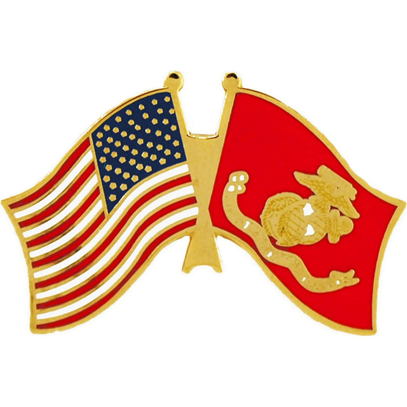 EE, Inc. United States and Marine Corps Flag Pin Military Collectibles for Men Women