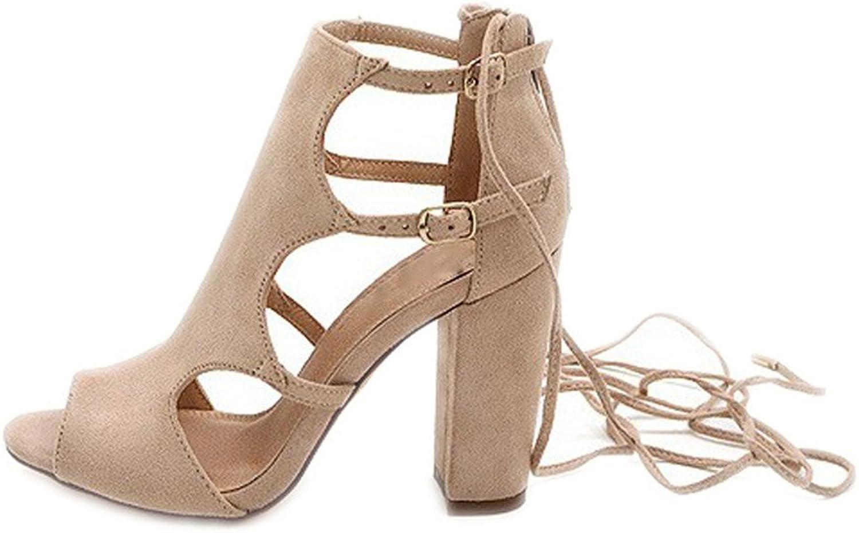 Chaidan Women Sandals Gladiator Genuine Leather High Heels Summer Fashion Pop Toe shoes Woman