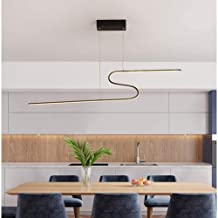 ZCdd Led Postmodern Living Room Lights Fashion Simple Bedroom New Creative Personality S-Type Chandelier Studio Dining (Co...