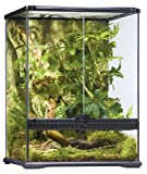 Exo Terra Glass Natural Terrarium Kit, for Reptiles and Amphibians, Small Tall, 18 x 18 x 24 inches, PT2607A1