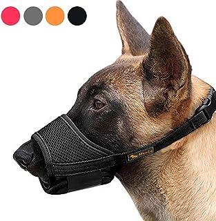 HEELE Dog Muzzle,Soft Nylon Muzzle Anti Biting Barking Chewing,Air Mesh Breathable Drinkable Adjustable Loop Pets Muzzle f...