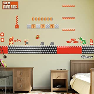 FATHEAD NES Super Mario Bros.: Bowser's Castle Room Theme-Large Officially Licensed Nintendo Removable Graphics Wall Decal