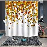 Mariposa Digital y Flor Cortina de baño Poliéster Impermeable Individualidad Cortina de partición de baño Cortina de Ducha de baño-13_150x180cm