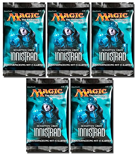 Magic the Gathering MTG Schatten über Innistrad - 5x Booster Pack - Deutsch - German