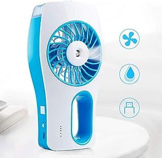 Infreecs - Mini ventilador de mesa 2 en 1 con USB, humidificador de mano, humidificador portátil Humidifier ventilador recargable Mini ventilador, 3 modos para oficina, dormitorio, camping, viajes