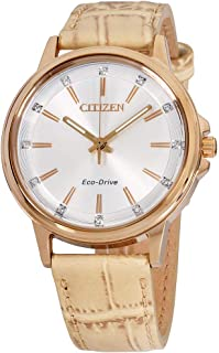 Citizen Chandler Eco-Drive Movement Silver Dial Ladies Watch FE7033-08A