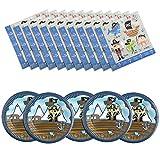 Diealles Shine Piraten Party Teller Set (16 Stück Servietten + 8 Stück Tellern) Deko Geburtstag Party.