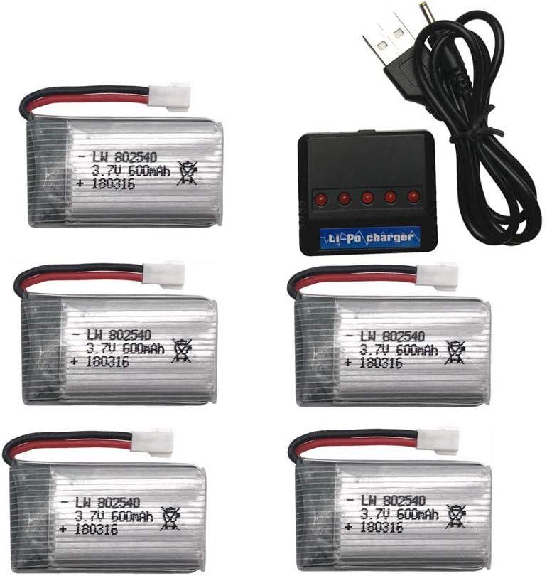 5pcs for Syma Large discharge sale Arlington Mall X5 X5C X5S X5SC 600mAh Battery X5SW LiPo 5 + 3.7V