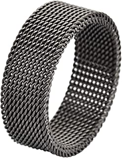 Geoffrey Beene Stainless Steel Men's Comfort Fit Mesh Ring