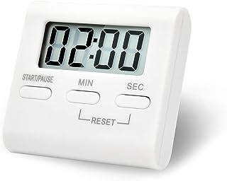 キッチンタイマー 操作簡単 デジタルタイマー 計時器 見やすい大画面 最大99分59秒 大音量 ストップウォッチ カウントアップ機能 タイマー 学習 時間時間管理 スタンド 日本語取扱説明書付き