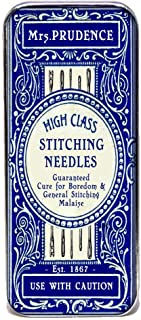 Magnetic Sewing Needle Case Mrs Prudence High Class Stitching Needles Faux Vintage