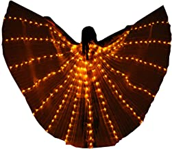 Belly Dance LED Props Wings Props with Sticks Dancing Performance Isis Wing Accessory