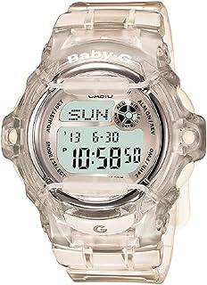 ساعة كاسيو بيبي جي كوارتز للسيدات بسوار من البلاستيك المطاطي