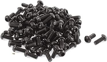 uxcell M2.5x6mm Thread Button Head Hex Socket Cap Screw Bolt 100pcs