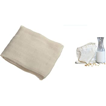 Chef Choice Cotton Muslin Cloth Natural Ultra Fine Cheesecloth Professional Cheese Wraps for Making Paneer, Jalebi, Sprouts, Straining Soups and Sauces, Curds, Single Pack (1x1 m)