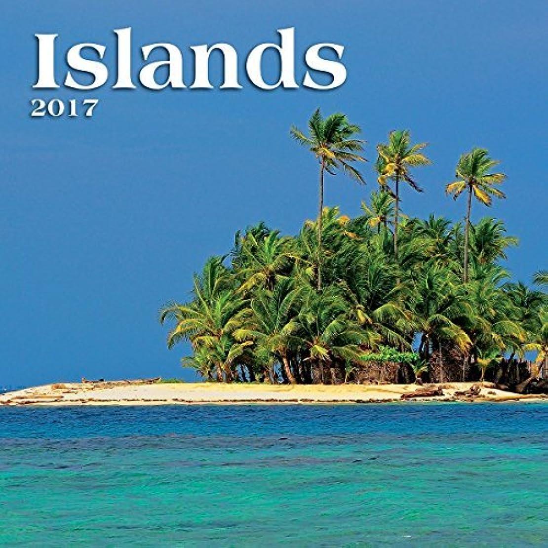 迷路に対処するTurner Photo 2017 Islands Photo Mini Wall Calendar 7 x 14 inches Opened (17998950009) [並行輸入品]