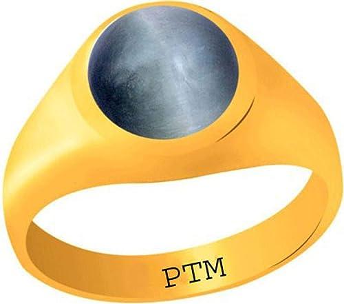 Certified Natural 4 25 Ratti or 3 90 Carat Cat s Eye Lehsuniya Astrological Gemstone Panchdhatu Gold Plated Ring for Men Women