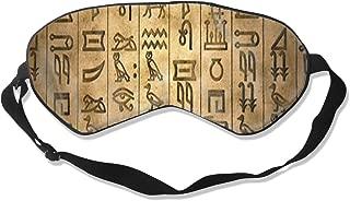 Unisex Sleeping Eye Mask Egyptian Hieroglyphs Eye Mask Cover with Adjustable Strap Blindfold Eye Shades for Travel, Nap, Meditation