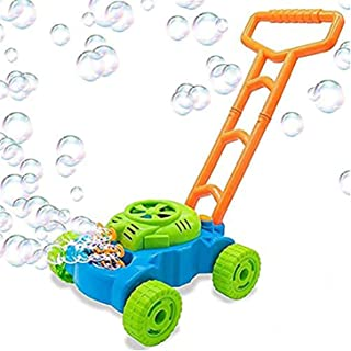 XTZJ Lawn Mower Bubble Machine for Kids - Automatic Bubble Mower with Music, Baby Activity Walker for Outdoor, Push Toys f...