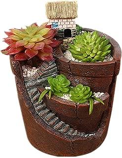 oamore Maceta de Conejo Maceta de Cactus Diseño de Animales de Dibujos Animados Atractivo hogar decoración de oficinas de Escritorio Macetas (C)
