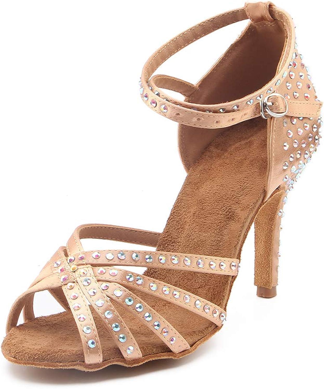 Pierides Women's Max 44% OFF Suede Sole Rhinestone Lati Dance Shoes Ballroom Max 54% OFF