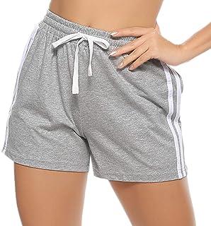 Pantalones Cortos de Deporte para Mujer Pantalones Deportivos de Algodón Verano Fitness Jogging