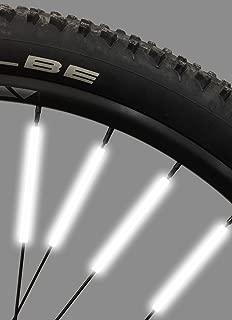 Bike Spoke Reflector Jusmar Pack of 36 - Bike Reflectors for Mountain and Road Bikes - Kids Bike Reflector - Waterproof Bicycle Spoke Reflectors