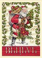 """ディメンジョンズ クロスステッチ 刺繍キット""""サンタを信じて"""" Dimensions Counted Cross Stitch Kit Believe In Santa DIM クロスステッチキット Believe In Santa 【並行輸入品】"""