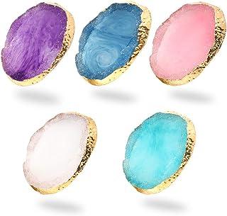 5 Stks Hars Nail Art Palet, Nail Palet Nail Art Cosmetische Mixing Palet Kleur Mengen Pigment Plaat Polish Houder Tekening...