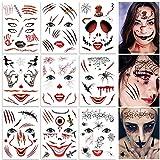 Tatuajes Temporales de Halloween, 9 Hojas de Pegatinas de...