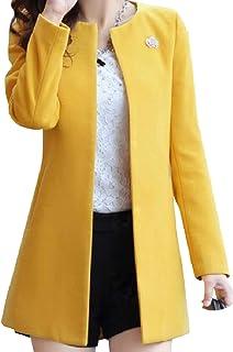 معطف حريمي من SportsXX مناسب من الصوف المخلوط مع Cardi مقاس كبير مناسب للخريف والشتاء