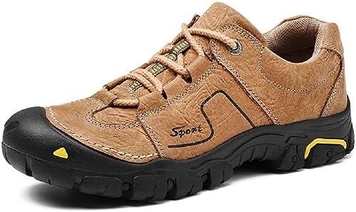 Fuxitoggo Chaussures de Course pour Hommes en Plein air, Sports de Glisse antidérapantes, Chaussures de randonnée (Couleuré   Kaki, Taille   EU 41)
