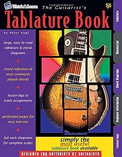 The Guitarist's Tablature Book - Blank Guitar Tab Paper