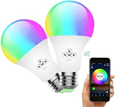 YOMYM WiFi Smart Lamp, Smart Mobile Remote Control Bulb, 16 Million That Change Lighting, No Hub Required, Home Decor, Sta...