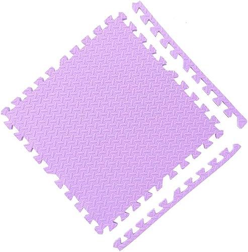 MAHFEI-tapis puzzle en mousse Salon Casse-tête Bébé Rampant Prougeection De Sol Doux Tampon Facile à Nettoyer PE, Plusieurs Couleurs Combinaison Libre (Couleur   violet, Taille   8PCS)
