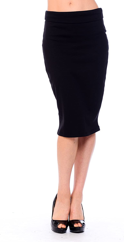 KLAXONSLA Women's Knee Length Pencil Skirt Made in USA