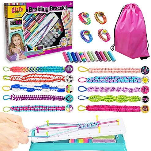 Friendship Bracelet Making Kit for Girl DIY Bracelet Maker Kit for Over 6 Years Old Kid Best product image