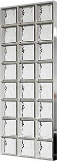 comprar comparacion Bloques de vidrio mamparas de ducha JUEGO COMPLETO 73,5x196 cm – nube neutro brillante 24x24x8 cm – diferentes versiones d...