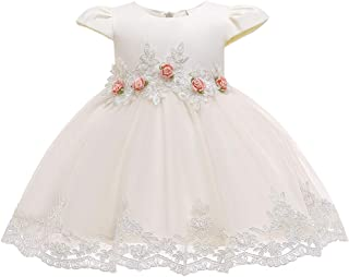Yotree Kids Baby Girl Dress Party Formal Wedding Bridesmaid Dress Child Gorgeous Little Rose Lace Frill