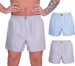 LUFT Mens Cotton 2 Pack Underwear Waistband Solid Stretch Briefs Boxer Shorts
