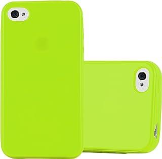 02d99f5865d Cadorabo Funda para Apple iPhone 4 / iPhone 4S en Jelly Verde - Cubierta  Proteccíon de
